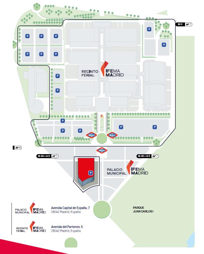 Mapa del Palacio de Congresos