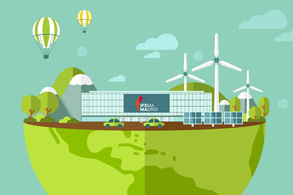 Ilustración de IFEMA MADRID sostenible
